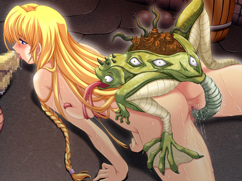 Blonde Toon Lets Oviposition Frog Monster Breed Her