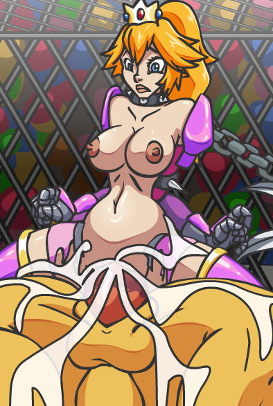 Bowser Rapes and Creampies Prince Peach's Pussy in a Cage Match