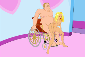 The Mating Game Charlie Fucking Paraplegic Dude in Wheelchair Adult Cartoon Video