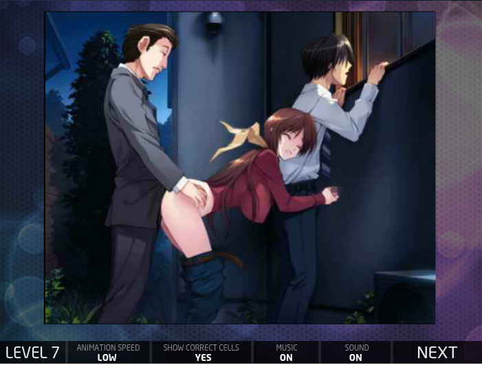 Hentai Puzzle 13 threesome doggy style outside handjob business men adult game